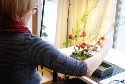 Ikebana - ein Gesteck entsteht