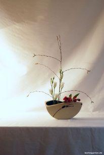 Ikebana mit Lysianthus