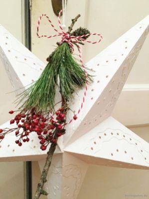 Stern mit Weihnachtsdeko