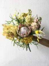 Strauß Exotik mit Iris, Orchidee, Protea