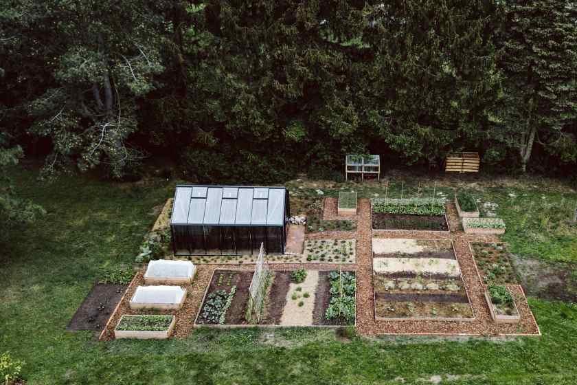Gemüsegarten von oben
