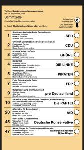Wahlzettel zur BVV