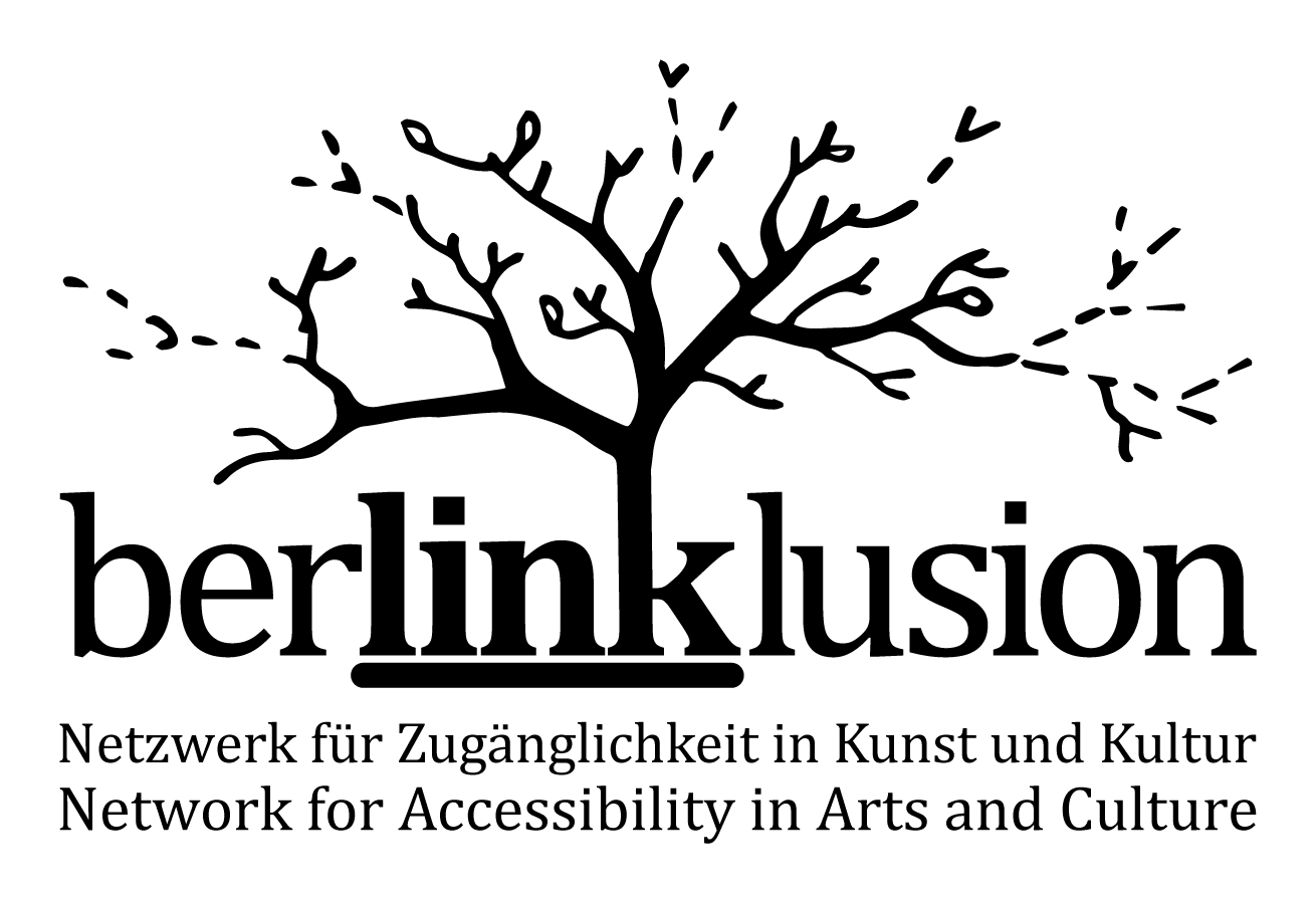 Berlinklusion logo: Network for Accessibility in Arts and Culture