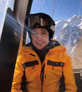 uta leyke-hess beim snowboarden