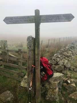 Wanderung an der Grenze England Schottland