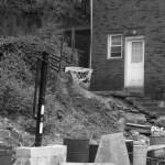 yard with blocks and basketball hoop