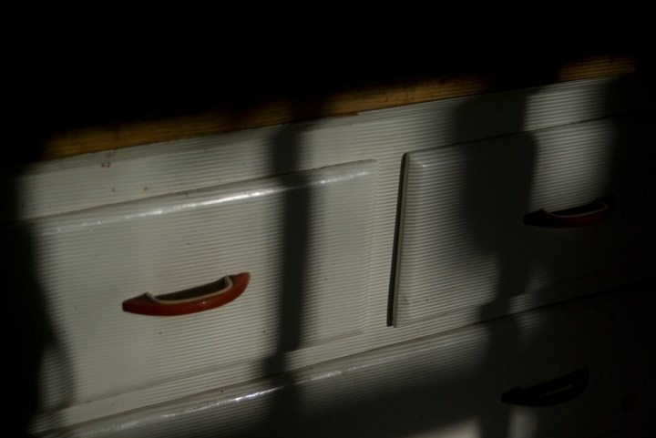 shadows on cabinet