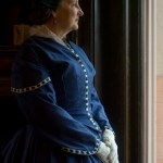 woman in civil war dress
