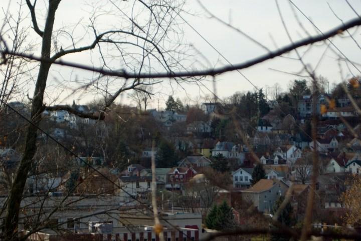 houses on hillside