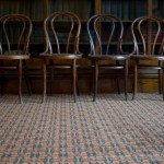 row of antique chairs