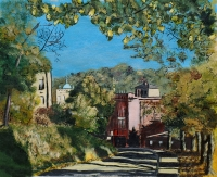 View from Beechwood, acrylic painting