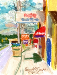 West Main Street, original pastel
