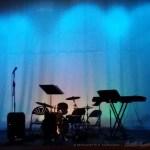 darkened stage