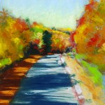 pastel painting autumn trail
