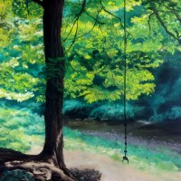 "New Painting: ""The Rope Swing"""