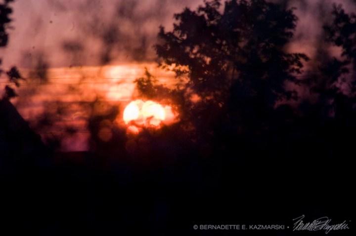 Sunset through bokeh.