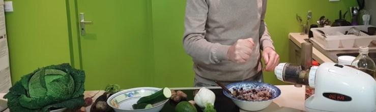 purée crue légumes alimentation saine végétale