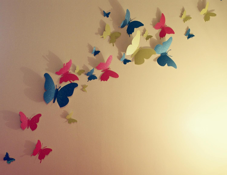 Home Decor 3d Glitter Butterfly Wall Stickers