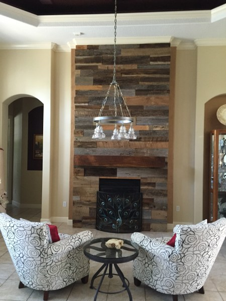 Photo Gallery of Reclaimed Wood Wall Accents  Showing 8 of 15 Photos  Most Current Reclaimed Wood Wall Accents Regarding Wood Wall Accent Wood  Accent Wall Fireplace Decor