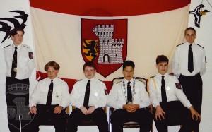 Gruppenfoto vom Königsehrenabend 1996