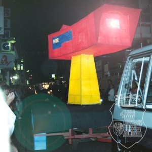 Die Kamera während des Fackelzuges 1999 in Aktion.