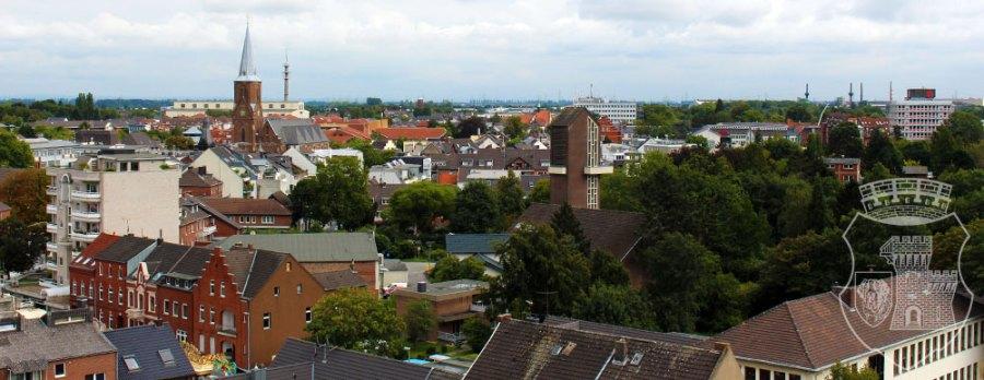 Die Grevenbroicher Skyline zum Schützenfest 2015.