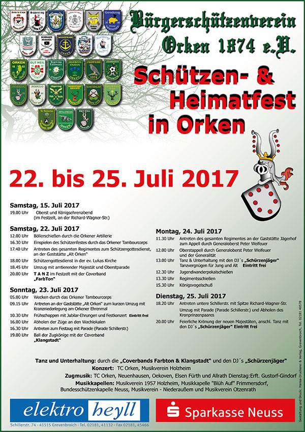 Das offizielle Plakat der Orkener Kirmes 2017