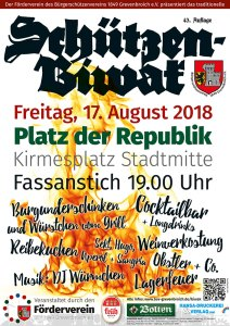 Das offizielle Plakat zum Schützenbiwak 2018.
