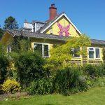 exterior view Cerdyn Villa guesthouse from garden