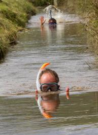 two bog snorkellers during the triathlon