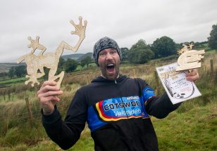 he's a bit happy being champion and setting a new world record
