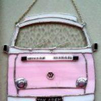 pink vw camper, lightcatcher