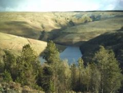 along the Abergwesyn Pass, up the Devils Staircase and round to look down on Llyn Brianne Reservoir new llanwrtyd Wells