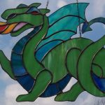 green dragon suncatcher