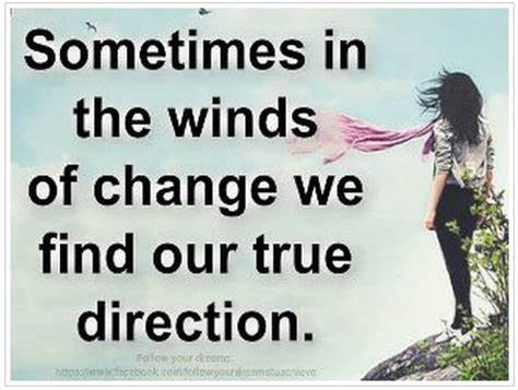 change of direction, fresh start