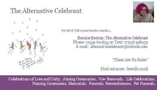 business card the alternative celebrant book me