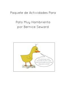 Pato Muy Hambrienta Paquete de Actividades