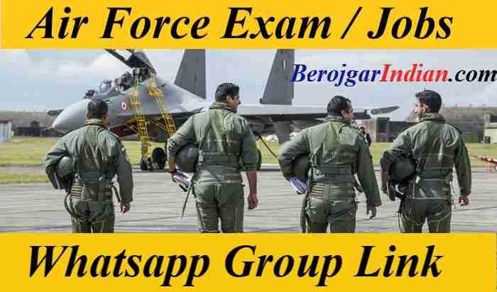 Indian Air Force Exam Job Updates Whatsapp Group Link Telegram Channel 2021 Join