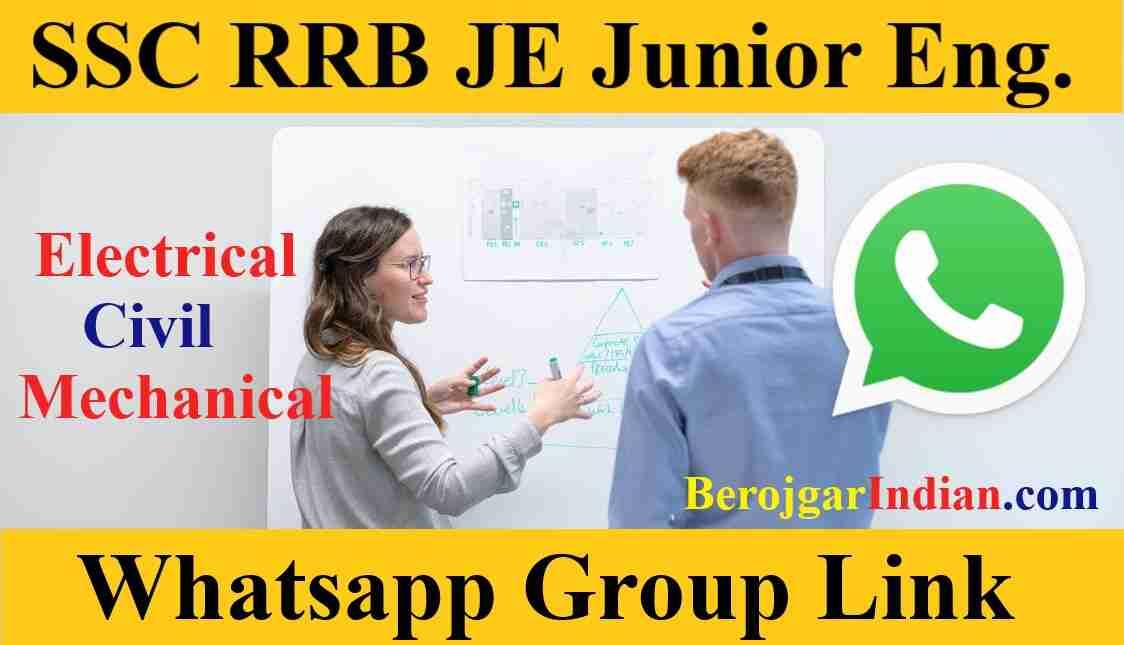 RRB SSC JE Electrical Mechanical Civil Exam Job Whatsapp Group Link 2021