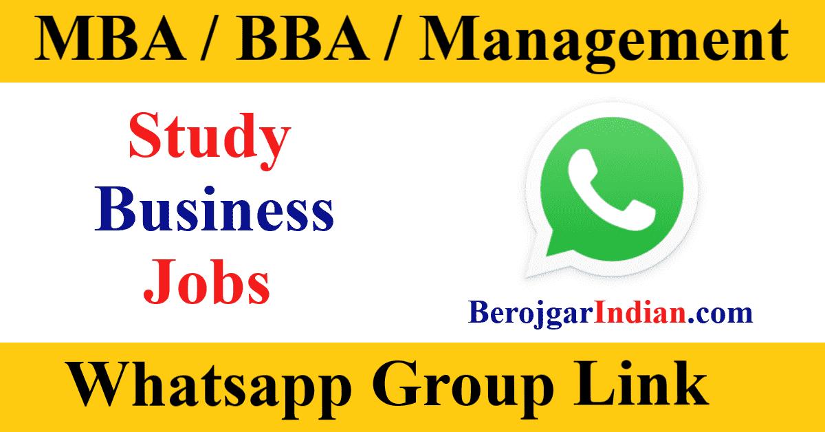 MBA CET Study Fresher Jobs News Job Preparation Whatsapp Telegram Group Link Join 2021