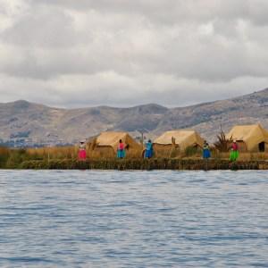 Iles flottantes d'Uros, Lac Titicaca, Puno, Pérou