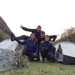 Paria Camp, Trek de Santa Cruz, Cordillère Blanche, Pérou