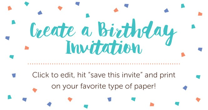 Birthday Invitation Wording Ideas And Printables Shari S