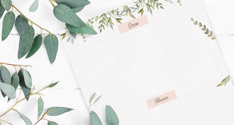 12 Free Wedding Planner Binder Printables