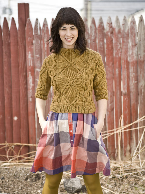Vashon sweater knitting pattern in Berroco Vintage Chunky