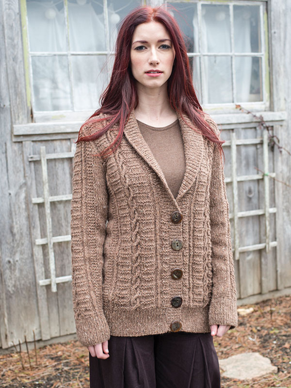 Flaherty cardigan knitting pattern from Berroco