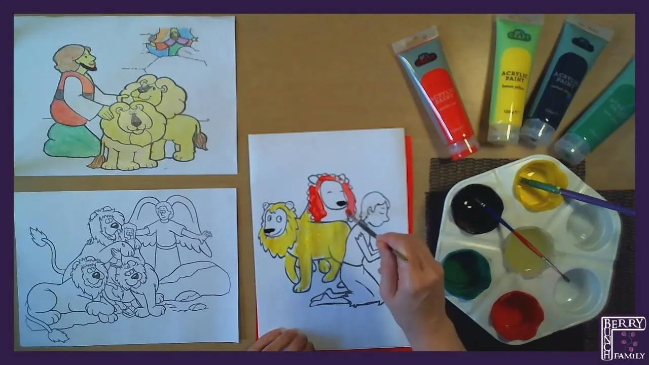 Art Time, Making, Daniel And The Lions, Simple Colouring In (reloaded!)