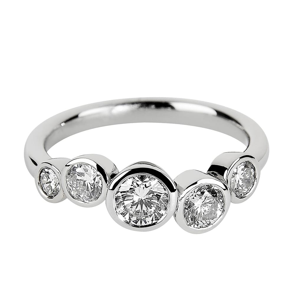 Platinum Five Stone Diamond Set Dress Ring From Berrys