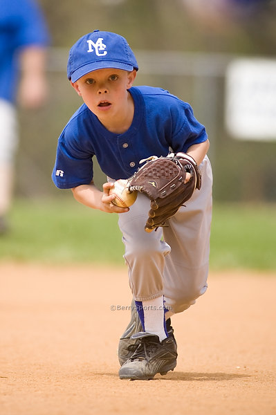 Madison Parks and Rec Rookie League Baseball~Royal vs Navy