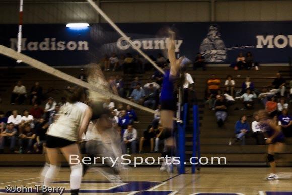 Hannah blocking..